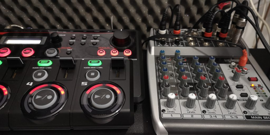 Boss RC 505 and USB Mixer